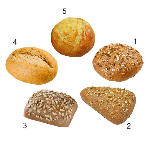 Assortiment petits pains cocktail, 5 sortes