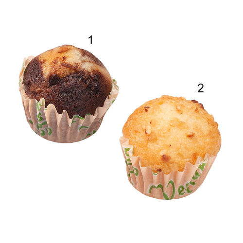 Assortiment de mini muffins vegans, 2 sortes