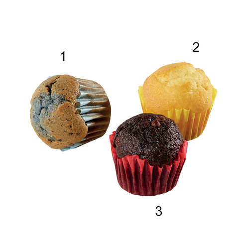 Assortiment mini-muffins, 3 sortes